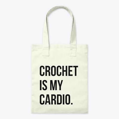 Cardio Tote Bag Natural T-Shirt Front