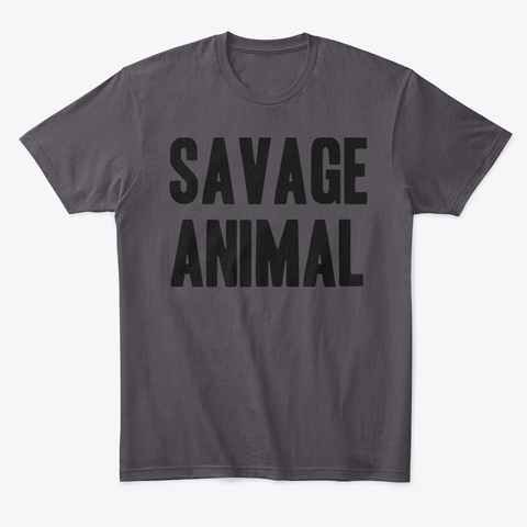 Savage Animal Heathered Charcoal  T-Shirt Front