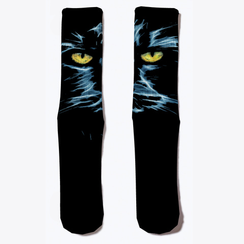 Cat Eyes Socks Black áo T-Shirt Front