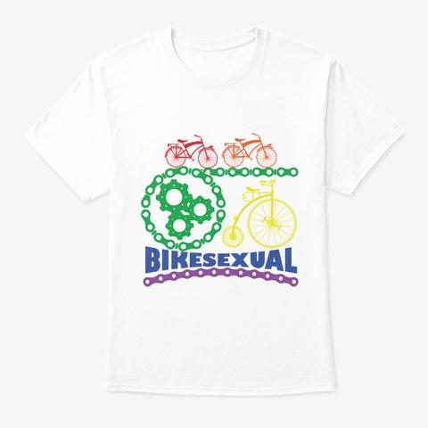 Gay Pride Parade Lgbt Lesbian Gay Bi White T-Shirt Front