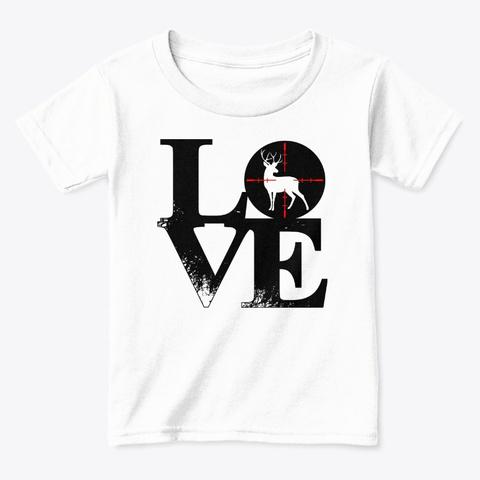 Deer Love White  T-Shirt Front