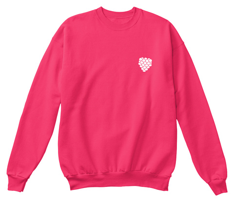 Original 'raspberry' Crewneck Hot Pink Sweatshirt Front
