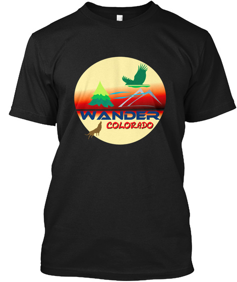 Wander Colorado Black T-Shirt Front