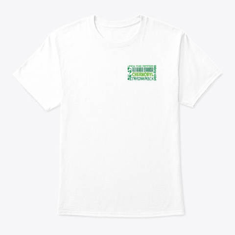Weed Strain Word Art White T-Shirt Front