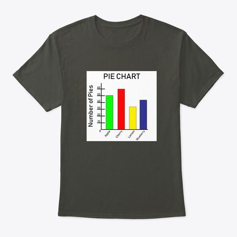 Pie Chart Funny Math Shirt Unisex Smoke Gray T-Shirt Front