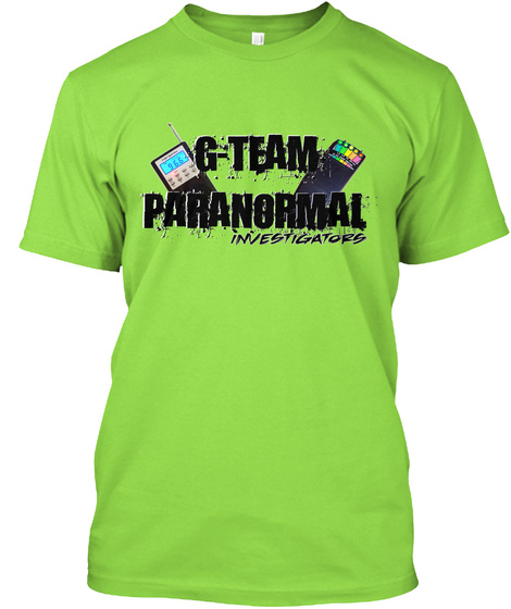 G   Team Paranormal Investigators Lime T-Shirt Front