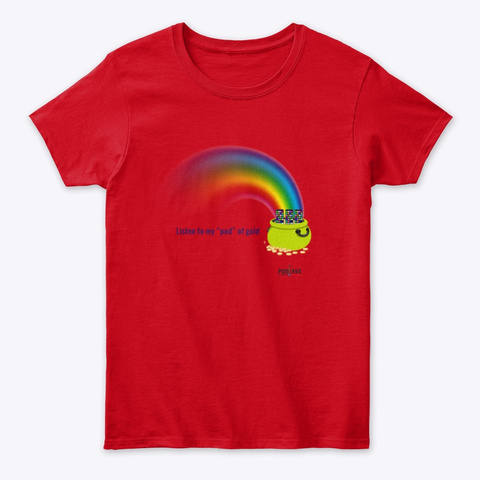 Pod Of Gold Red T-Shirt Front