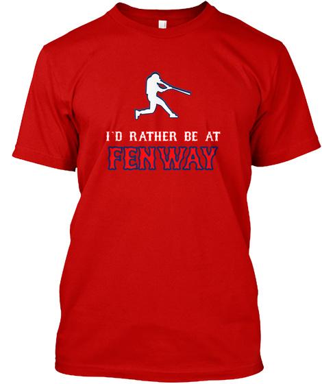 Boston Baseball  Classic Red T-Shirt Front