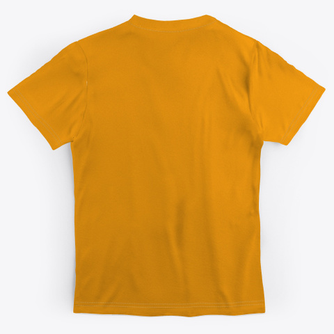 Art Abstract Collection Orange T-Shirt Back