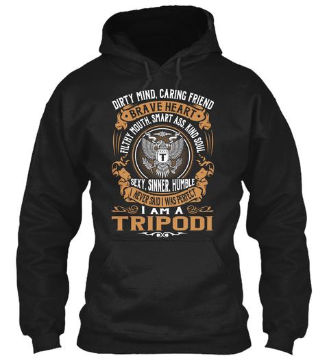 Tripodi Black Sweatshirt Front