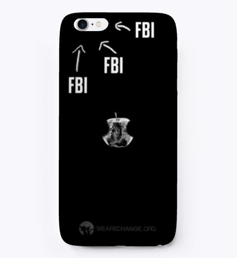 F Bi Phone Case Black T-Shirt Front