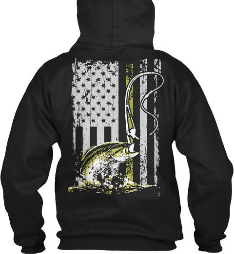 (Ts) American Bass Fisher Black T-Shirt Back