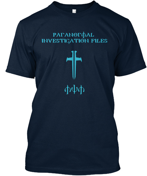 Paranormal Investigation Files New Navy T-Shirt Front