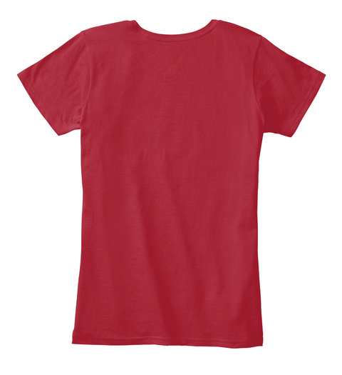 Dressage Red Women's T-Shirt Back
