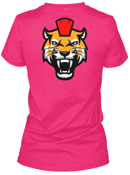 Ladies Kitty Wita Cleaver Shirt Heliconia T-Shirt Back