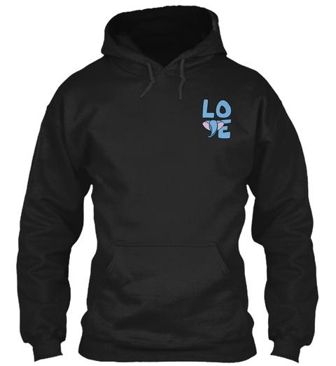 Elephant Love Logo Apparel Gifts Black T-Shirt Front