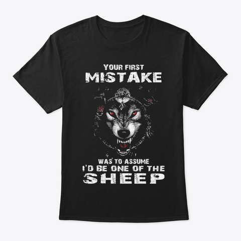 Wolf Lovers Black T-Shirt Front