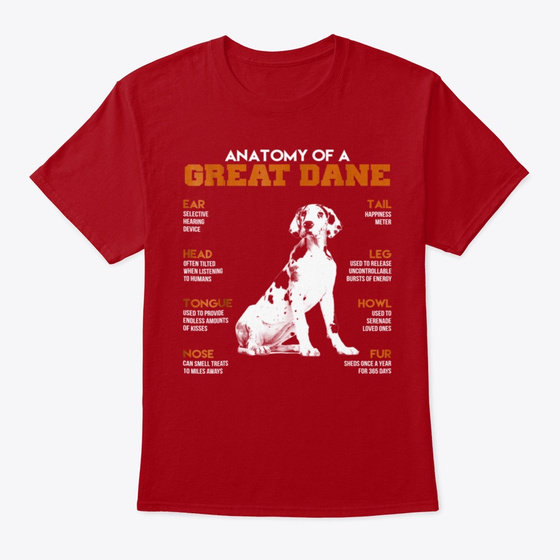 Anatomy Of A Great Dane Dogs Fu Products from Aba | Teespring
