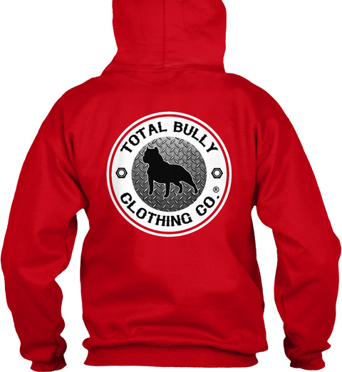 Total Bully   Bully Beast Graphic Hoodie Red T-Shirt Back