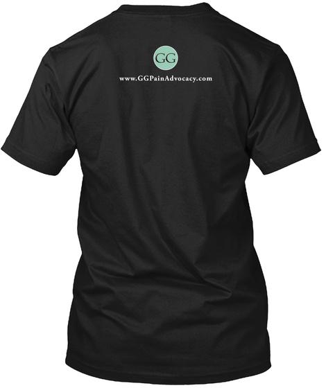 Www.Ggpainadvocacy.Com Black T-Shirt Back