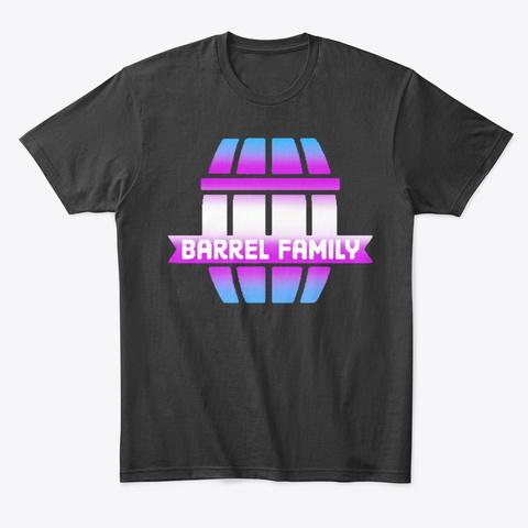 Barrel Family Trans Pride Black T-Shirt Front