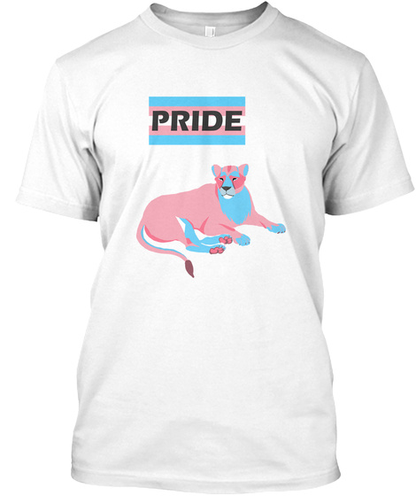 Trans Pride Lioness White T-Shirt Front