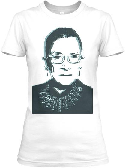 Rbg   Scotus Diva White Camiseta Front