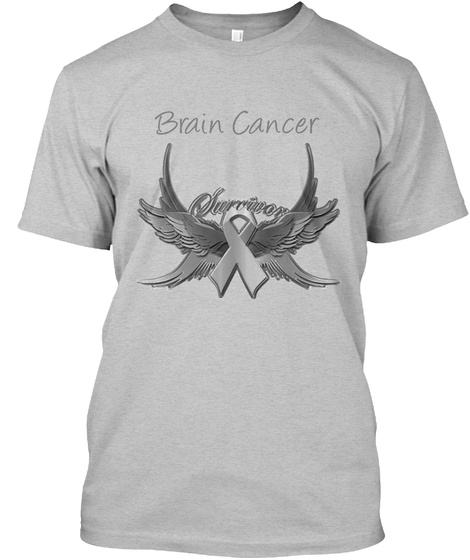 Brain Cancer  Light Heather Grey  T-Shirt Front