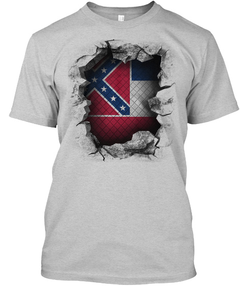Mississippi Breakthrough Light Steel T-Shirt Front