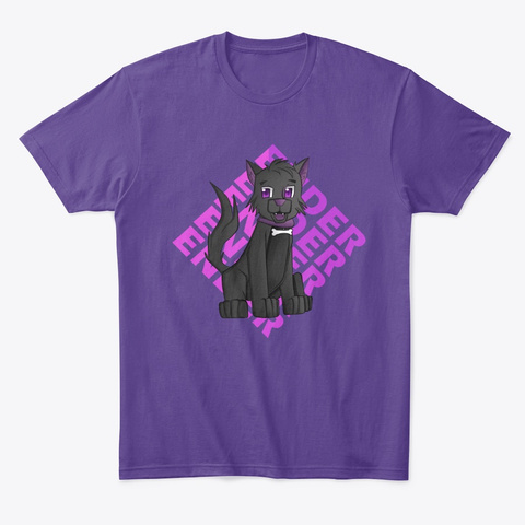 Ender The Wolf Purple T-Shirt Front