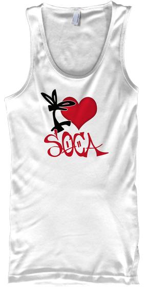 Soca Teeze White T-Shirt Front