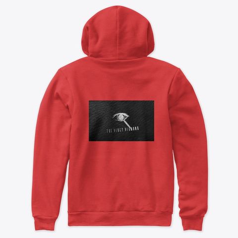 "Diamond  ""Hood""  Red  Pull Ova Red Sweatshirt Back"