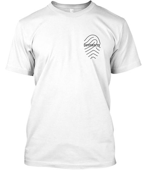 Diversity White T-Shirt Front
