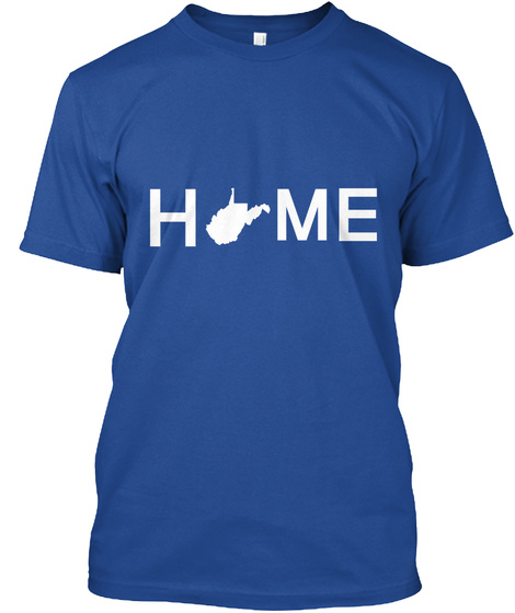 H Me Deep Royal T-Shirt Front