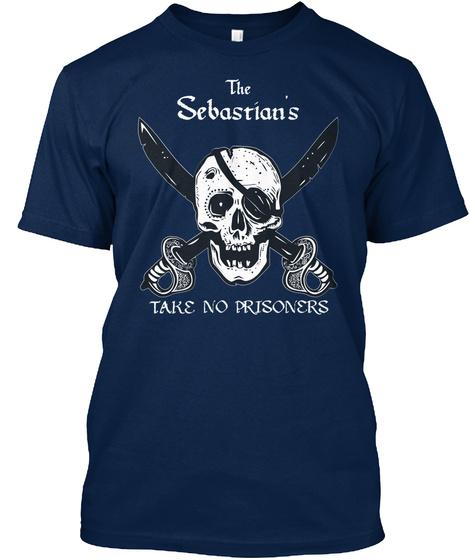 Sebastian Take No Prisoners! Navy T-Shirt Front