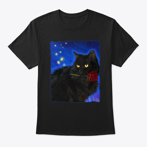 The Night Rose Black T-Shirt Front