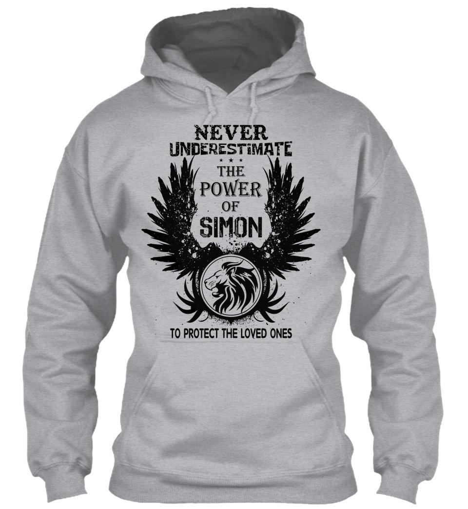 Never Underestimate The Power of Simons Hoodie Black