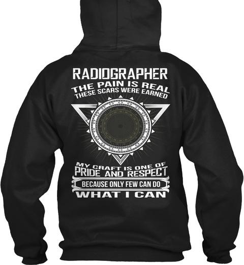 Radiographer Black T-Shirt Back
