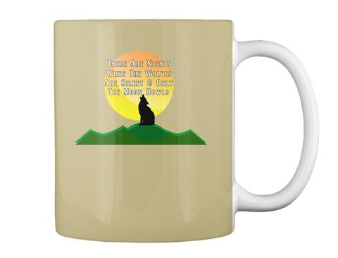 Wolves And Moon Halloween 2018 Gift Tan Mug Back