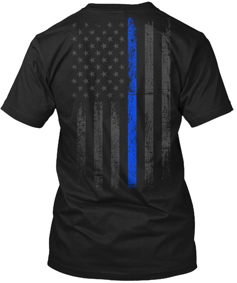 Police K9 Black T-Shirt Back