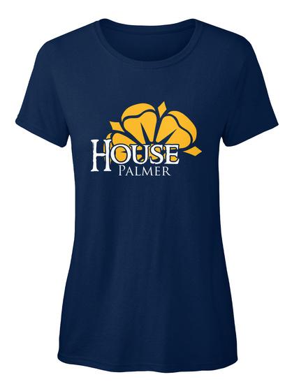 Palmer Family House   Flower Navy T-Shirt Front