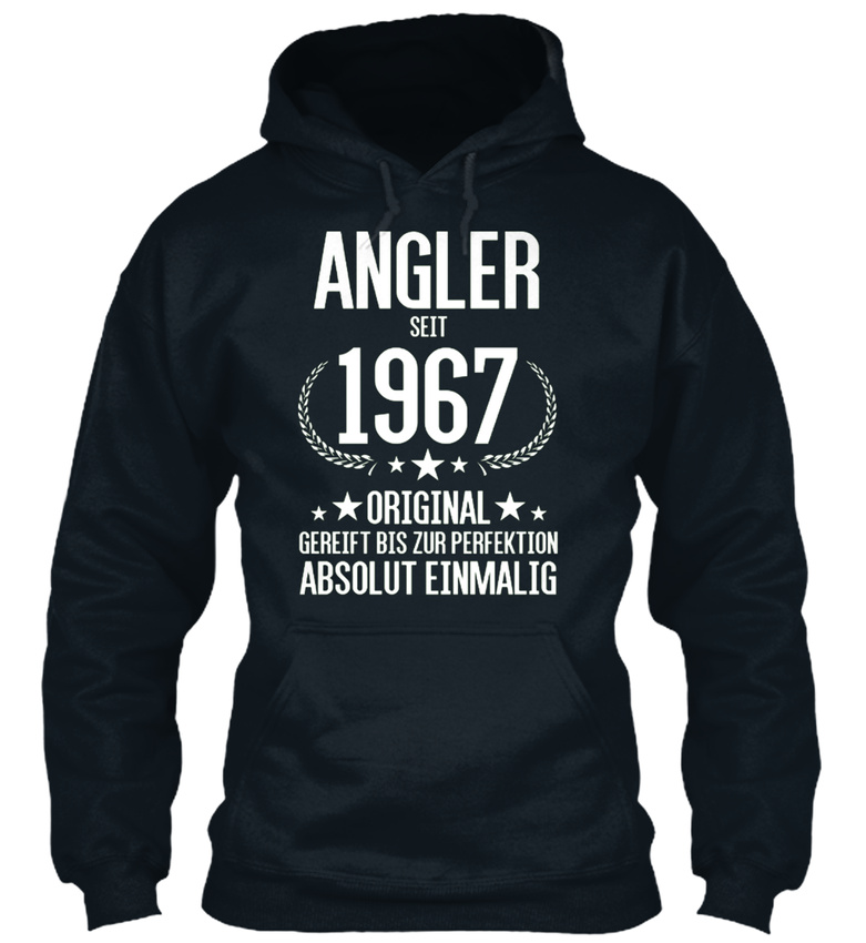 Anglerr-Seit-Original-1967-Bequemer-Kapuzenpullover