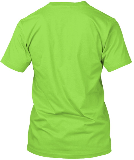 Best Irish Dad Ever! T Shirt Lime T-Shirt Back