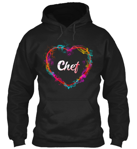 Chef Black T-Shirt Front
