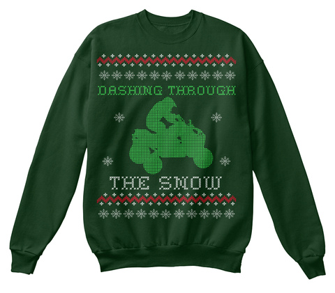 Dashing Through The Snow Deep Forest  T-Shirt Front
