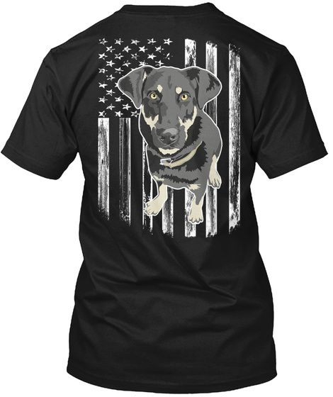 American Flag Borador 4th Of July Gift Black T-Shirt Back