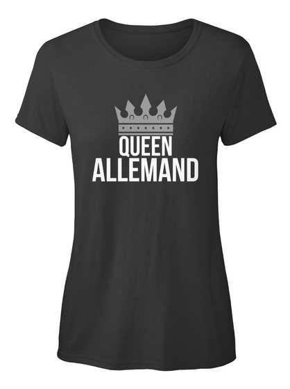 Allemand   Simply Queen Allemand Black T-Shirt Front