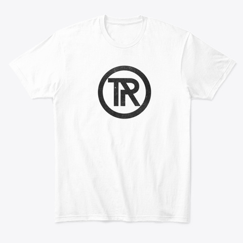 Black Trinity Radio Logo Shirt White T-Shirt Front