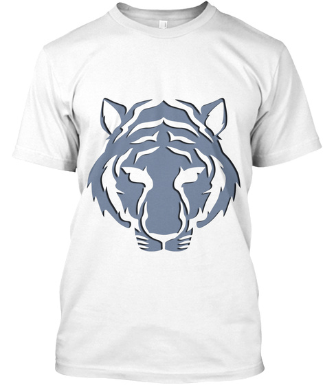 Tiger White T-Shirt Front