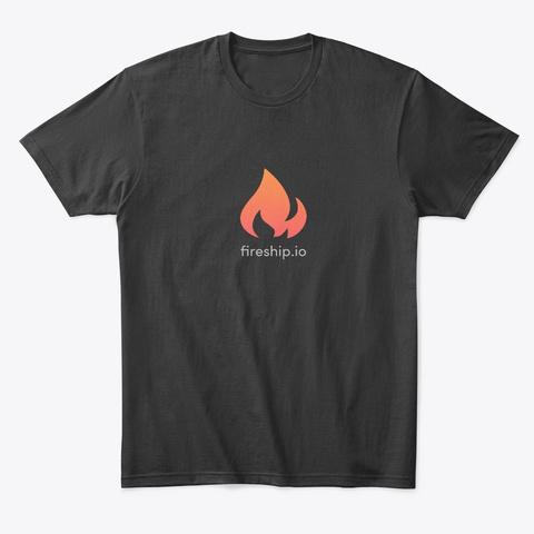 Fireship Classic Black T-Shirt Front